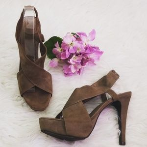 Diane von Furstenberg heels sandals Gray size 8.5